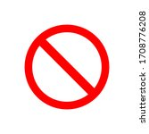 red prohibited symbol isolated...   Shutterstock .eps vector #1708776208