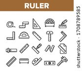 ruler measuring tool collection ... | Shutterstock .eps vector #1708789585