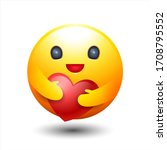 caring emoticon  sign and... | Shutterstock .eps vector #1708795552