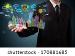 young business man in suit... | Shutterstock . vector #170881685
