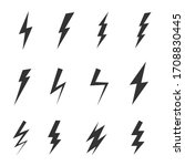 simple icon storm or thunder... | Shutterstock .eps vector #1708830445