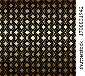 geometric golden art deco... | Shutterstock .eps vector #1708831942