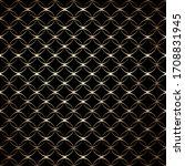 linear gold art deco simple... | Shutterstock .eps vector #1708831945