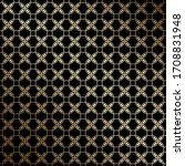 black and gold geometric... | Shutterstock .eps vector #1708831948