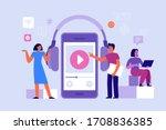 vector illustration in flat... | Shutterstock .eps vector #1708836385