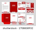 corporate identity set.... | Shutterstock .eps vector #1708838932
