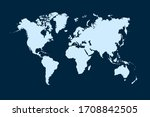 world map color vector modern   Shutterstock .eps vector #1708842505
