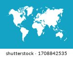 world map color vector modern | Shutterstock .eps vector #1708842535