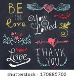 color chalk wedding and... | Shutterstock .eps vector #170885702