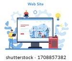welder and welding online... | Shutterstock .eps vector #1708857382