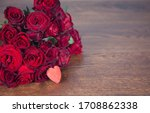Red Heart And Red Roses On...