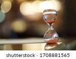 Close Up Of Hourglass On Table