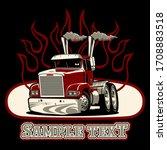 cartoon semi truck isolated on...   Shutterstock .eps vector #1708883518