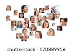 collection of different people... | Shutterstock . vector #170889956