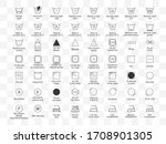 laundry symbols icon set.... | Shutterstock .eps vector #1708901305