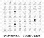 laundry symbols icon set.... | Shutterstock .eps vector #1708901305