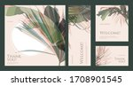 a set of greeting cards with...   Shutterstock .eps vector #1708901545