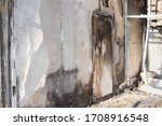 Damaged Wall With Traces Of...