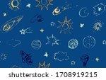 space doodle illustration....   Shutterstock .eps vector #1708919215