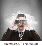 young businessman looking... | Shutterstock . vector #170893088