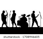 rock band musicians on stage.... | Shutterstock .eps vector #1708946605