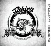 Fishing Club Design Black And...