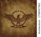 logo of the roman eagle on an... | Shutterstock .eps vector #1708967362