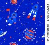 space vector seamless pattern....   Shutterstock .eps vector #1708992265