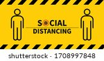 social distancing. keep the 1 2 ... | Shutterstock .eps vector #1708997848