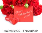 red roses are with the card of... | Shutterstock . vector #170900432