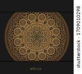 luxury ornamental golden... | Shutterstock .eps vector #1709010298