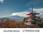 View From Chureito Pagoda In...