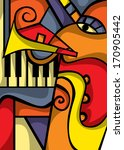 Abstract Jazz art (Vector)