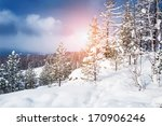 beautiful winter landscape  | Shutterstock . vector #170906246