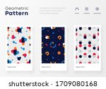 geometry pattern with simple... | Shutterstock .eps vector #1709080168