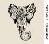Elephant .african Mask