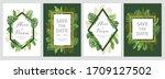 wedding invitation set. cards... | Shutterstock .eps vector #1709127502
