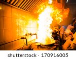 fire gas burn is cooking on... | Shutterstock . vector #170916005
