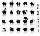 Piggy Bank Icons  Banking And...