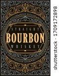 bourbon whiskey   ornate... | Shutterstock .eps vector #1709172898