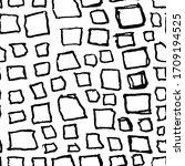 bricks handdrawn seamless black ... | Shutterstock .eps vector #1709194525