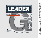 leader the new generation... | Shutterstock .eps vector #1709227402