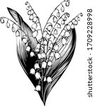 lily of the valley may.... | Shutterstock .eps vector #1709228998