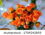 Close Up Arrangement Of Orange...