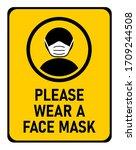 please wear a face mask... | Shutterstock .eps vector #1709244508
