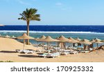 beach at the luxury hotel ... | Shutterstock . vector #170925332