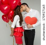 valentines photo of kissing... | Shutterstock . vector #170927165