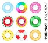 Set Of Rubber Swimming Rings...