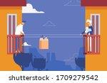 multy story house concept scene ... | Shutterstock .eps vector #1709279542