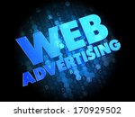 web advertising   blue color... | Shutterstock . vector #170929502